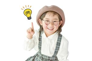 ひらめく子供の写真素材 [FYI01197318]