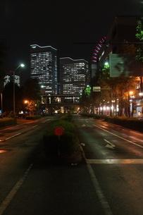 横浜みなとみらい地区の夜景の写真素材 [FYI01197475]
