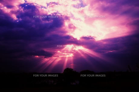 光芒・天使のはしご(薄明光線)の写真素材 [FYI01197500]