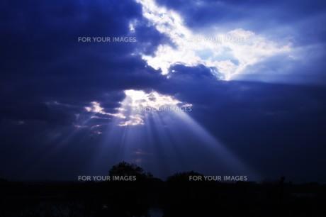 光芒・天使のはしご(薄明光線)の写真素材 [FYI01197501]