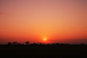 日本の風景・美しき天然 日の出 / 九州福岡県朝倉市の写真素材 [FYI01197505]