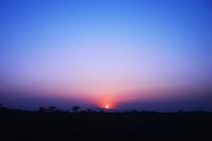 日本の風景・美しき天然 日の出 / 九州福岡県朝倉市の写真素材 [FYI01197506]