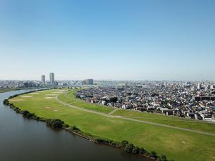 江戸川上空から見た風景の写真素材 [FYI01197690]