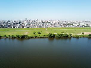 江戸川上空から見た風景の写真素材 [FYI01197691]