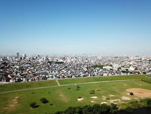 江戸川上空から見た風景の写真素材 [FYI01197692]