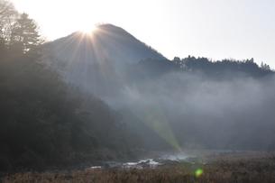川霧の道志川の写真素材 [FYI01197748]