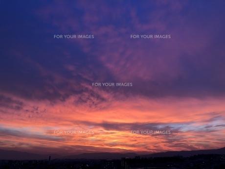 夕焼け空の写真素材 [FYI01198222]