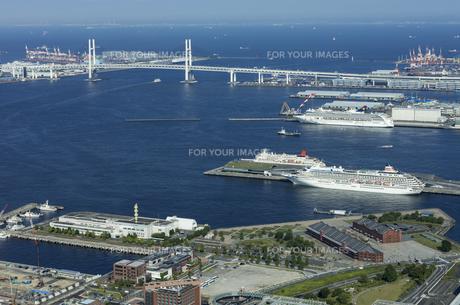 盛夏の横浜港の写真素材 [FYI01199300]
