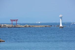 夏の湘南コースト・神奈川県 葉山海岸の写真素材 [FYI01199380]