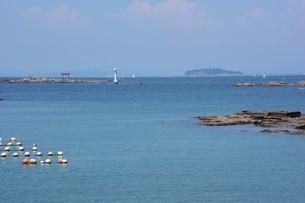 夏の湘南コースト・神奈川県 葉山海岸の写真素材 [FYI01199384]