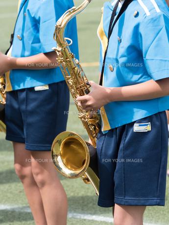 小学校のマーチングバンドの写真素材 [FYI01199405]
