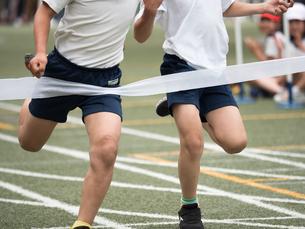 徒競走のゴールの写真素材 [FYI01199417]