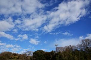 冬晴れの日・背景素材の写真素材 [FYI01199527]