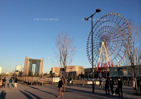 横浜の夕暮れの写真素材 [FYI01199529]