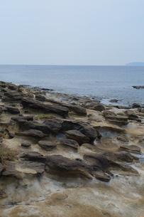 台湾 奇岩 深澳岬角(象鼻岩景觀區)の写真素材 [FYI01200205]