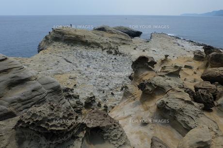 台湾 奇岩 深澳岬角(象鼻岩景觀區)の写真素材 [FYI01200216]