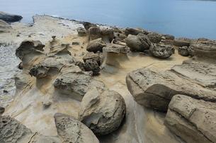 台湾 奇岩 深澳岬角(象鼻岩景觀區)の写真素材 [FYI01200217]