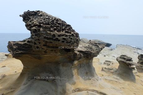 台湾 奇岩 深澳岬角(象鼻岩景觀區)の写真素材 [FYI01200218]