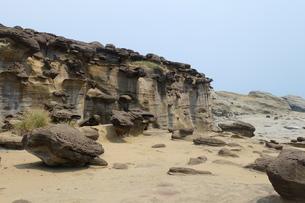 台湾 奇岩 深澳岬角(象鼻岩景觀區)の写真素材 [FYI01200221]
