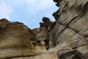 台湾 奇岩 深澳岬角(象鼻岩景觀區)の写真素材 [FYI01200230]