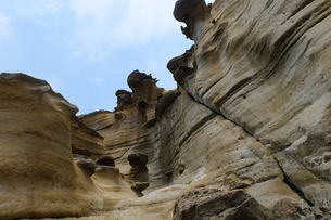 台湾 奇岩 深澳岬角(象鼻岩景觀區)の写真素材 [FYI01200231]
