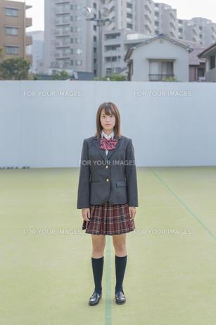 グランドの女子高生の写真素材 [FYI01200404]