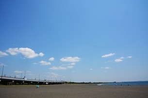 日本の風景 ・ 初夏の湘南ビーチの写真素材 [FYI01200506]
