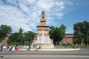 ミラノ スフォルツェスコ城の時計の写真素材 [FYI01200853]
