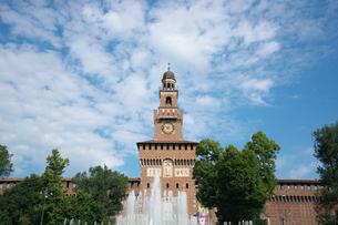 ミラノ スフォルツェスコ城の時計の写真素材 [FYI01200854]