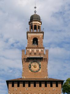 ミラノ スフォルツェスコ城の時計の写真素材 [FYI01200855]