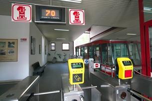 オルヴィエートのケーブルカー駅の写真素材 [FYI01200906]