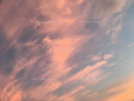 赤く染まった雲の写真素材 [FYI01200947]