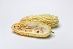 白いゴーヤ ニガウリの写真素材 [FYI01201049]
