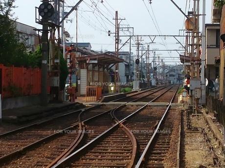 ちんちん電車の駅の写真素材 [FYI01201063]