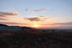 幻想的な夕焼け空の写真素材 [FYI01201123]