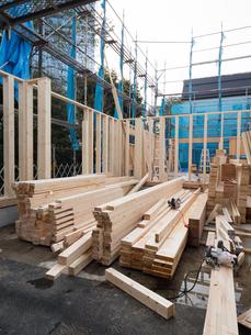 木造住宅の建設の写真素材 [FYI01201140]