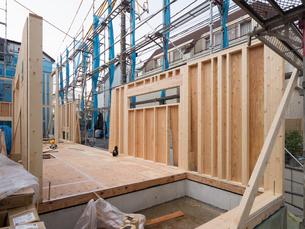 木造住宅の建設の写真素材 [FYI01201141]