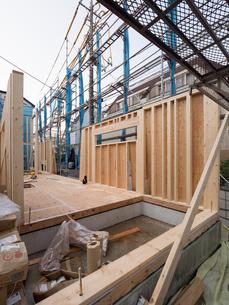 木造住宅の建設の写真素材 [FYI01201142]