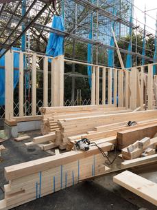 木造住宅の建設の写真素材 [FYI01201143]