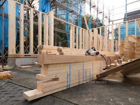 木造住宅の建設の写真素材 [FYI01201145]