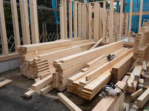 木造住宅の建設の写真素材 [FYI01201146]