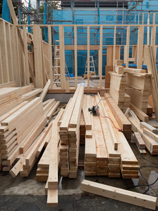 木造住宅の建設の写真素材 [FYI01201147]