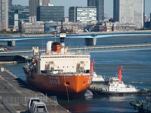 南極観測船 しらせの写真素材 [FYI01201150]