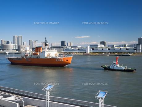 南極観測船 しらせの写真素材 [FYI01201152]