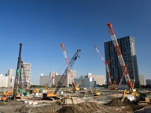 臨海地域の大規模工事現場の写真素材 [FYI01201160]