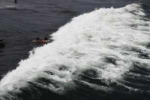 夏の思い出 湘南ビーチの写真素材 [FYI01201405]