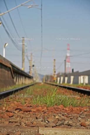 線路の写真素材 [FYI01201504]