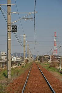 線路の写真素材 [FYI01201523]