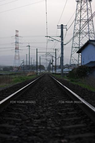 線路の写真素材 [FYI01201524]