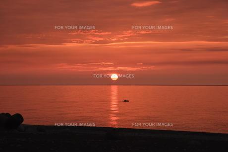 夕陽の写真素材 [FYI01201579]
